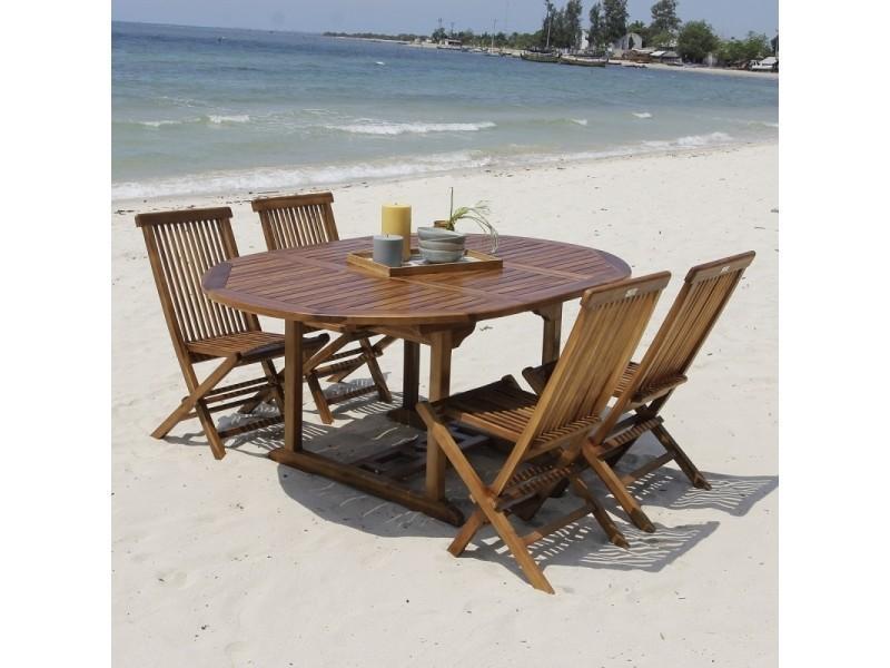 Salon de jardin en bois de teck 4 à 8 places - Vente de Salon de jardin ...