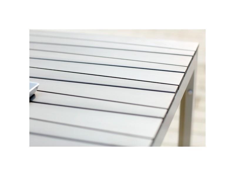 Siderno 6 : salon de jardin en aluminium et polywood gris / blanc ...