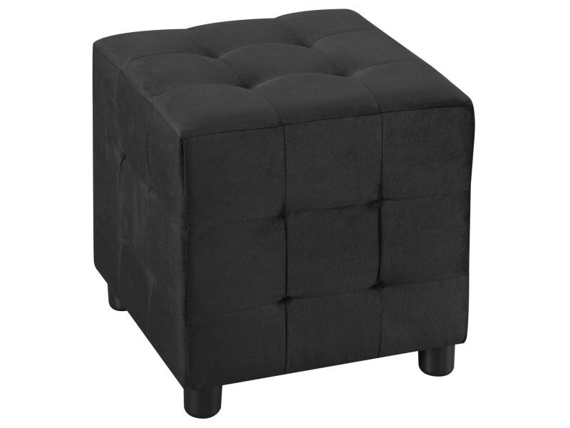 pouf cubique bazar tabouret bout de canap repose pieds en. Black Bedroom Furniture Sets. Home Design Ideas