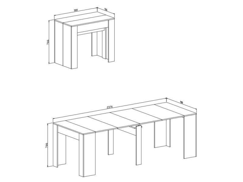 Table Avec ExtensibleRectangulaire Innovation Home Console dQCWEBoerx