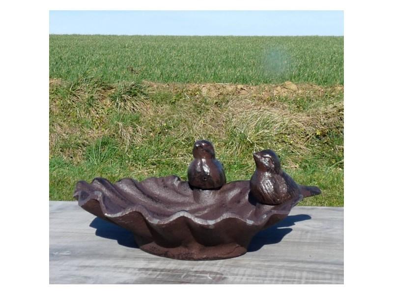 Bain Doiseau Mangeoire à Oiseaux Grainetier Abreuvoir Baignoire En