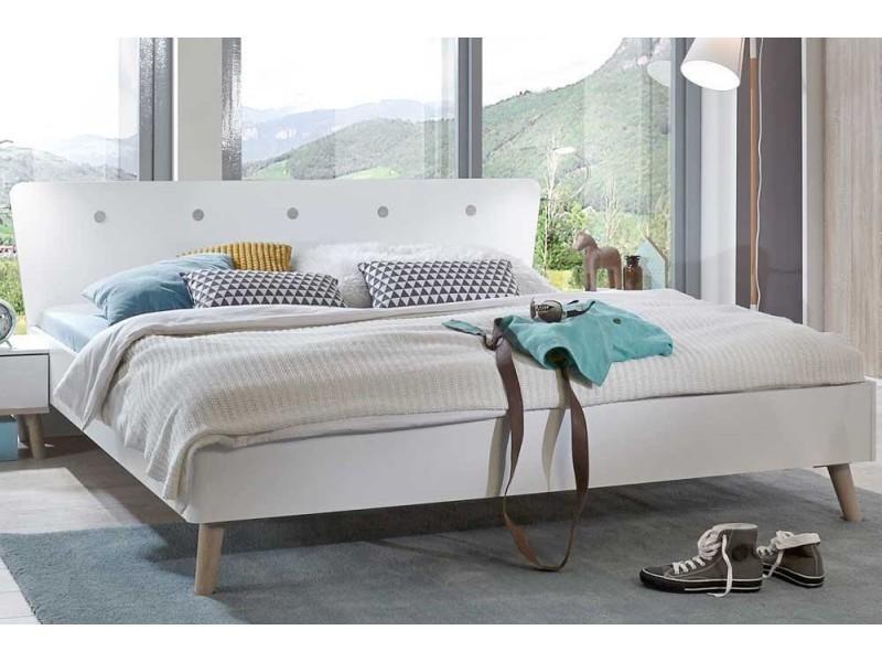 Ensembre chambre à coucher viborg 160*200cm style scandinave ...