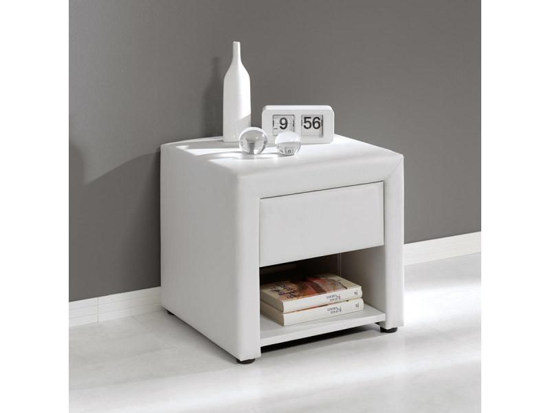 Table De Chevet Blanche Design Livia Vente De