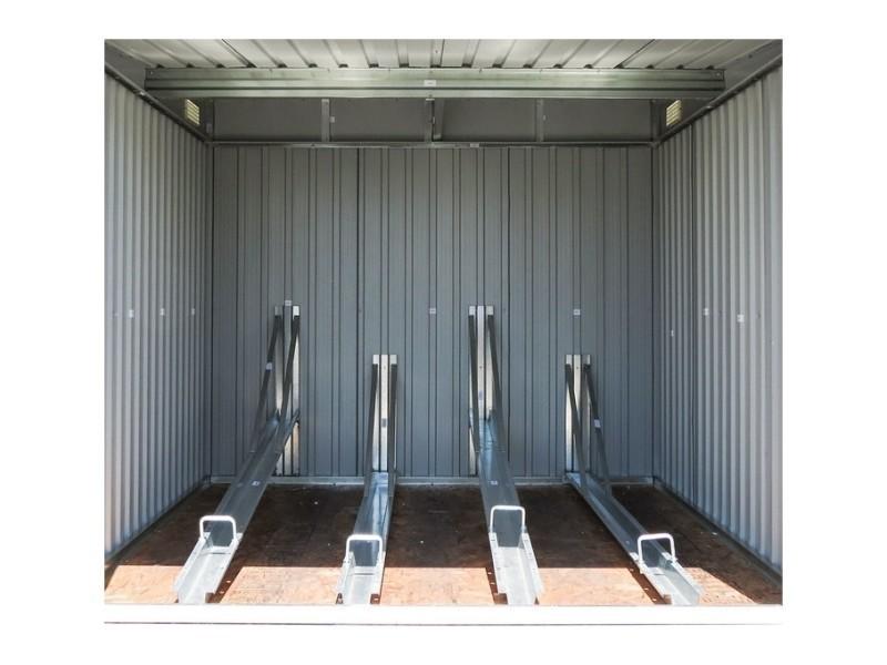 Abri vélo métal gardiun veloc ii (x4) 4,02 m² ext. KIS12969 - Vente de Abri de jardin et ...