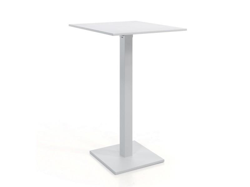 Table haute pliante carrée 70 cm alu blanc otrante - Vente de GECKO ...