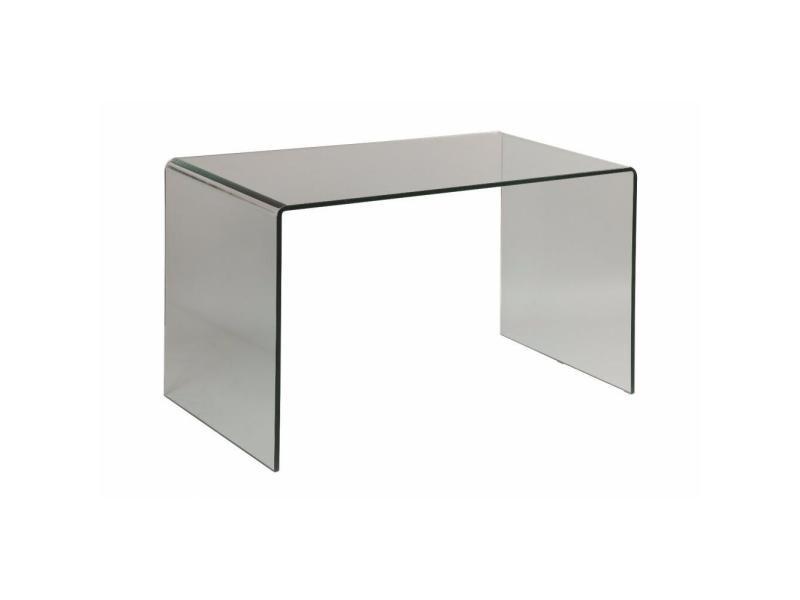 Clear bureau design en verre trempé vente de bureau
