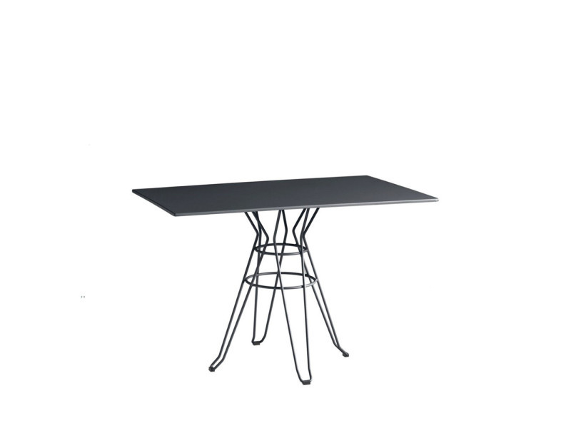 Alameda - table de jardin design métal rectangle 110x70cm - couleur ...