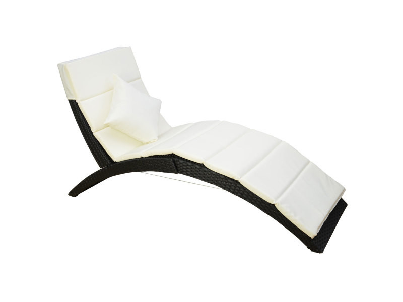 Bain de soleil lit transat courbe salon de jardin chaise longue ...
