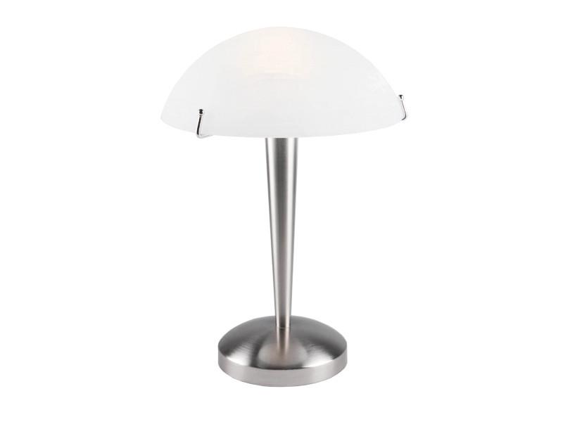 Lampe de salon touch mirage argentée en métal - Vente de Lampe ...