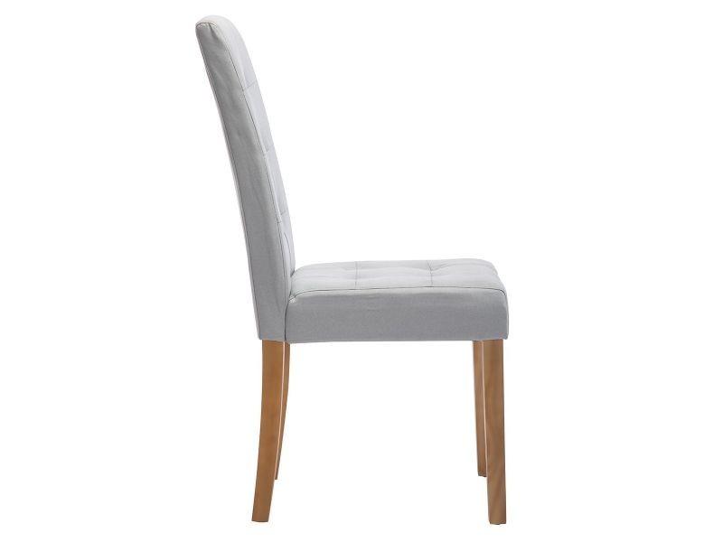 de 6 capitonnées Boston chaises Vente lot de gris pâle edCxBo