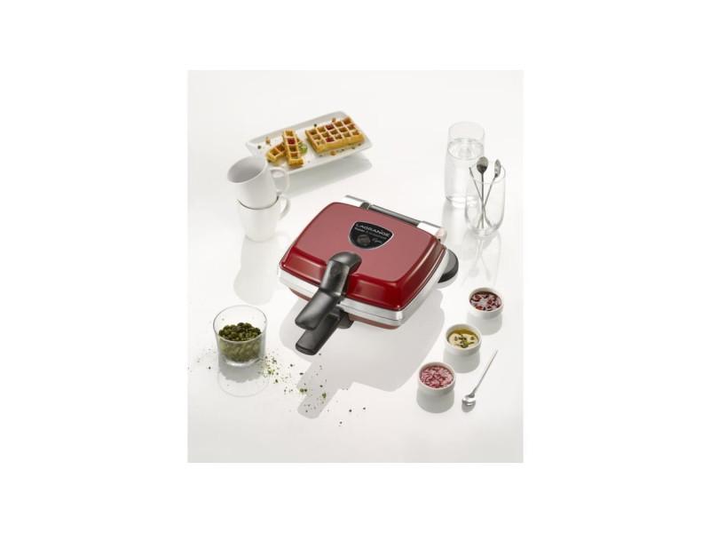 Flagrange gaufrier super 2 antiadhésif - 1000w - 1 jeu de plaques : gaufres + pic a gaufres - rouge LAG3196200391325