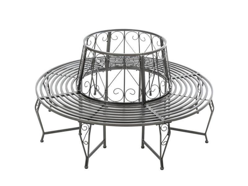 Banc De Jardin Rond 360 Pour Arbre 164cm Circulaire Ancien Métal