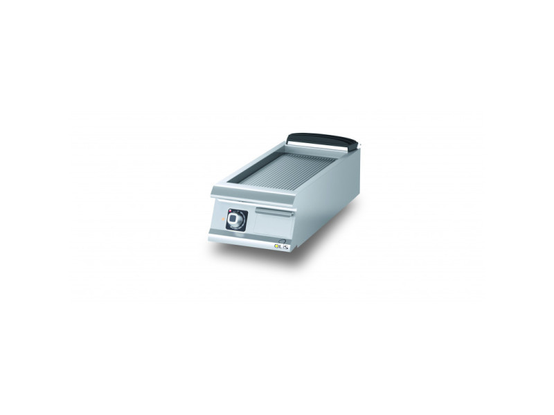 Plancha electrique rainurée aisi 430 diamante 90 - 400 à 800 mm - olis - acier 400 mm 900