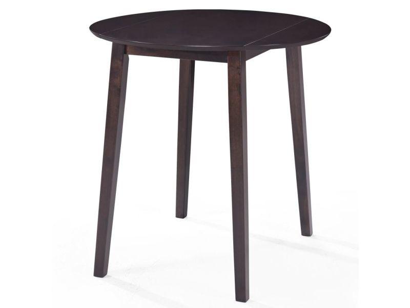 Vidaxl table de bar bois massif de sesham 90 x 91 cm marron foncé 245544