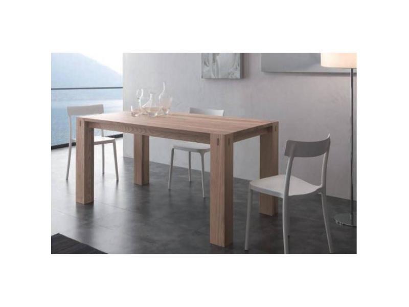 Table repas extensible factory en bois massif 20100836257