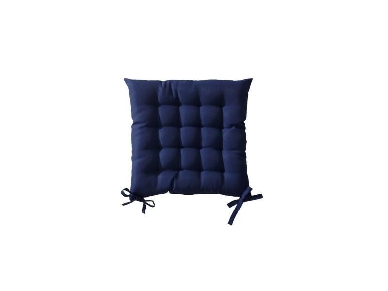 Galette De Chaise Conforama.Galette De Chaise Matelassee 40 X 40 Cm Bleu Fonce Vente