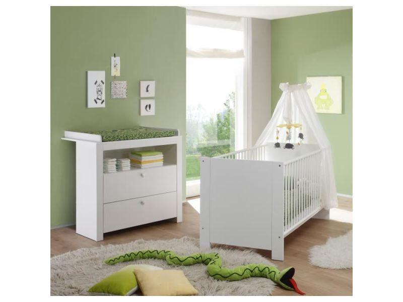 Chambre complete bebe olivia ensemble lit bébé 70x140 cm et commode ...