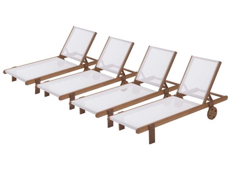 Bain de soleil en bois exotique \
