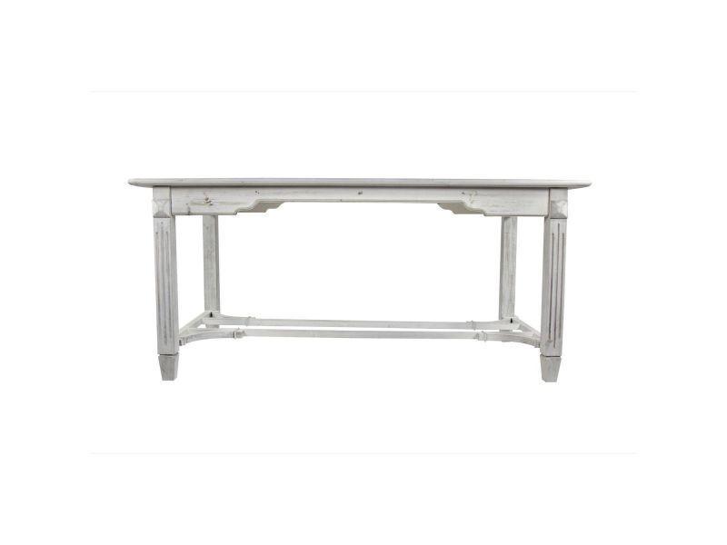 5cm D'autrefois 5x81 Bois Décoration Table 180x90 Cerusé Blanc 1K3ulFTJc