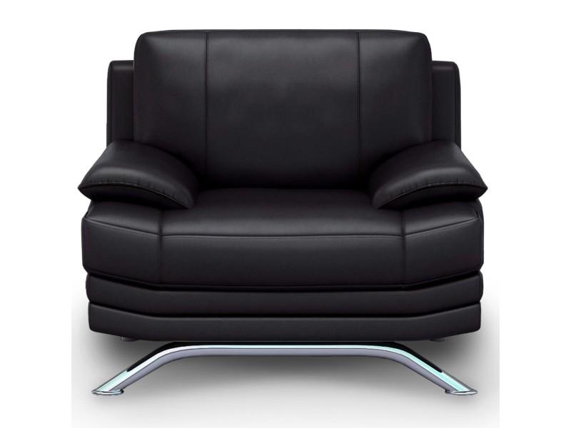 Roma - fauteuil design en cuir noir