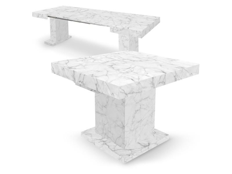 Extensible Conforama Marbre Vente Table Cotecosy Effet Mustang De CerBdxo