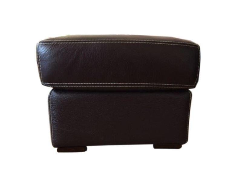 Pouf - poire pouf - cuir marron chocolat - contemporain - l 60 x p 60 cm