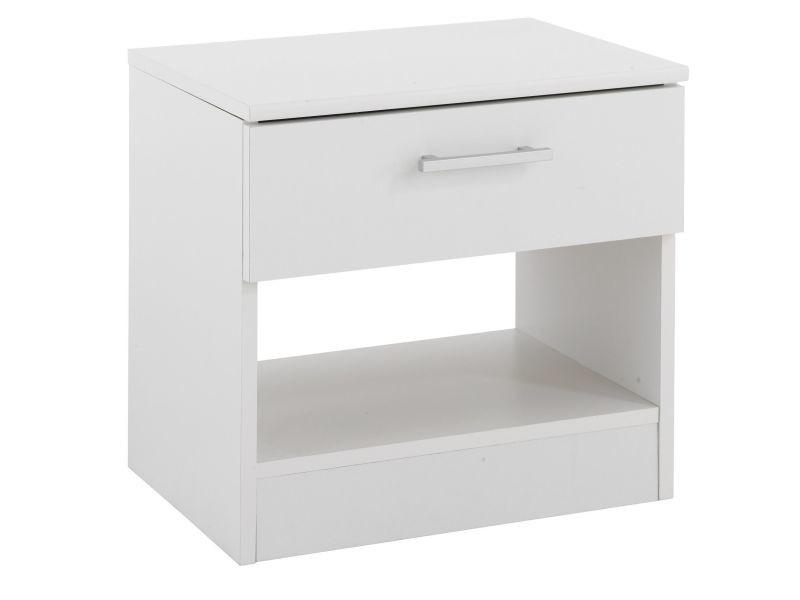 Table De Chevet Moderne Coloris Blanc P 18758 Co C Laidley