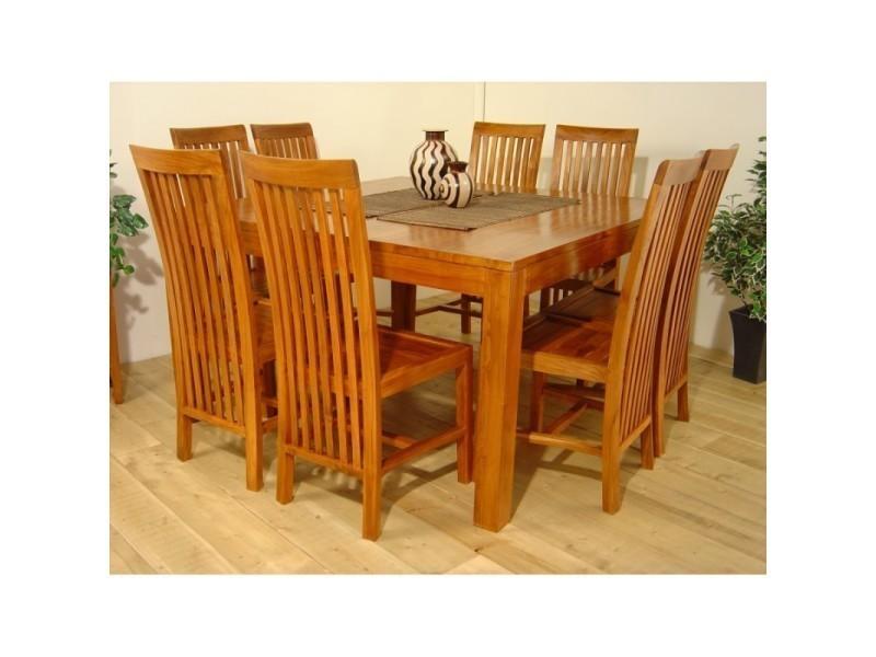 Table Repas Extensible Lauren 140 X 140 Cm En Mindi 20100857906