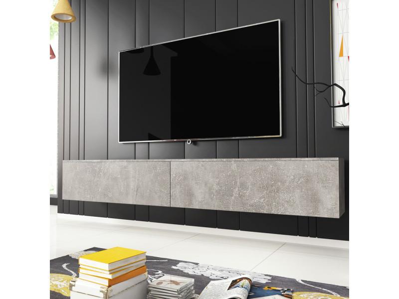 Meuble Tv Kane 180 Cm Beton Vente De Meuble Tv Conforama