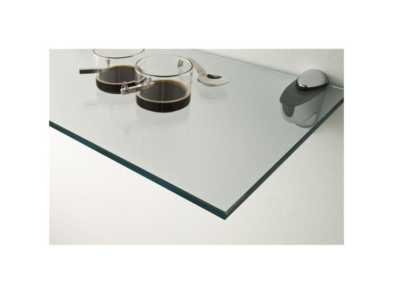 Mobili fiver, étagère en verre transparent venere, 60x18x0,8cm, made in italy