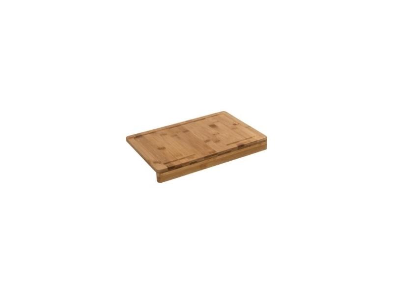 Planche à découper rectangle avec rebord - 35 x 24 cm - bambou