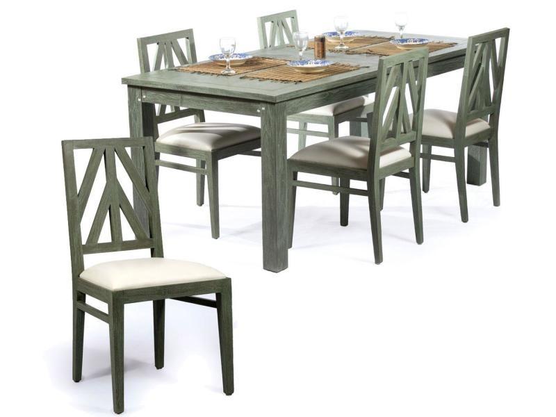 Salon en teck massif 6 8 places tables 190 cm Vente de