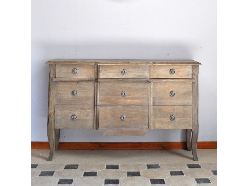 Buffet chêne massif à tiroir et placard 138x43x85 cm