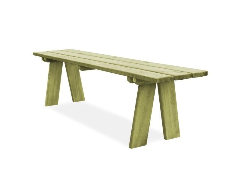 Vidaxl banc de jardin 170 cm bois de pin imprégné fsc 45147 - Vente ...