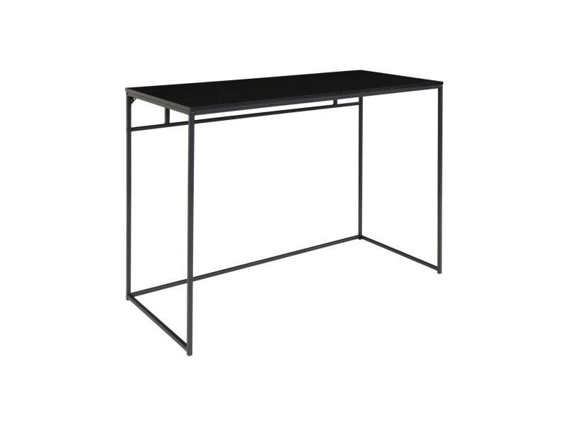 Bureau minimaliste 100cm en bois et métal poun 2402050