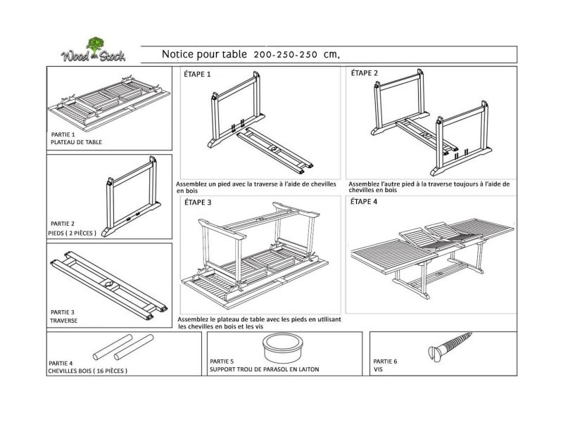Salon de jardin en teck grande taille - table 300 cm - Vente ...