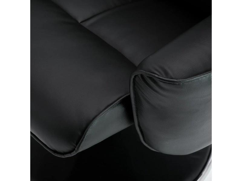 Icaverne - fauteuils club, fauteuils inclinables et chauffeuses lits ligne fauteuil de massage réglable avec repose-pied simili-cuir noir