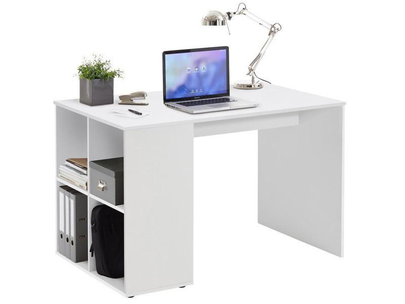 Bureau en bois mélaminé coloris blanc dim : l 117 x p 73 x h 75 cm