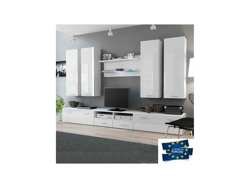 Ensemble meuble tv dream 300cm - couleur: blanc