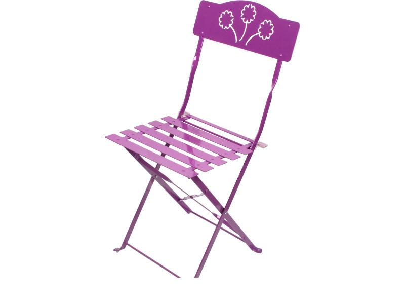 Pliante Et Vente De Ensemble Bistro Violet Chaise Table rsQtChdx