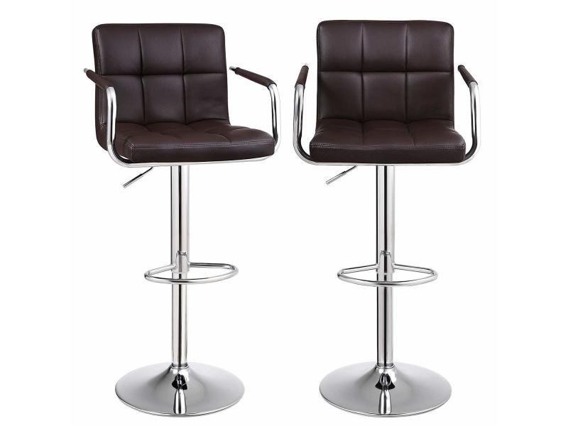 Royaume-Uni disponibilité b2ed9 e23e5 Tabourets de bar, lot de 2, chaise haute, hauteur réglable ...