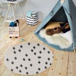 Tapis  prickly one blanc 90 x 90 cm tapis enfants unamourdetapis plusieurs dimensions et couleurs disponibles