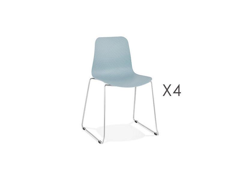 Bleu Layna Lot Chaises 55x50x82 De Cm Repas 5 Vente Chaise 4 tsdQrhCx