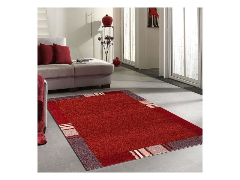 Tapis salon zaquo orange 120 x 170 cm tapis de salon moderne ...