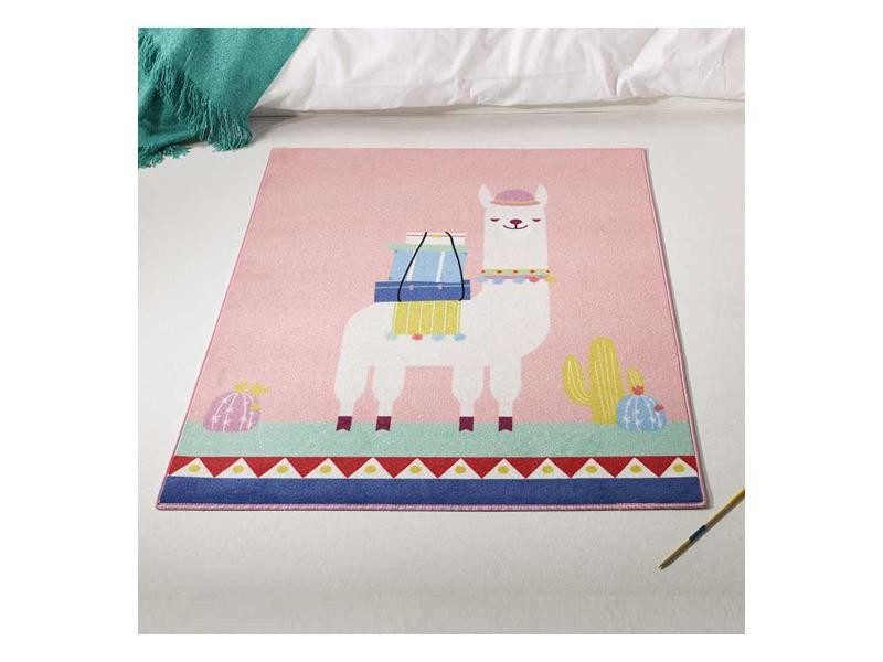 Tapis chambre lama md rose 95 x 125 cm tapis pour enfants ...