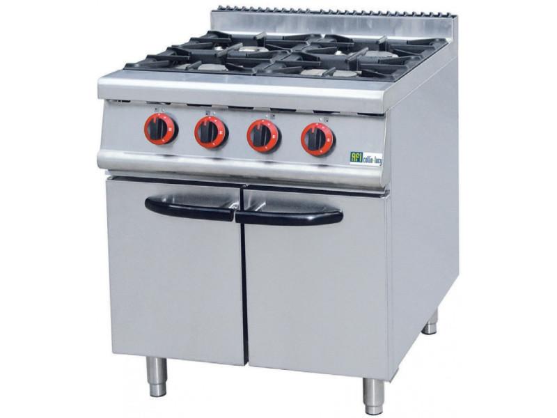 Fourneau gaz sur meuble série 700 - 4 à 6 brûleurs - afi collin lucy - 1050x700 700