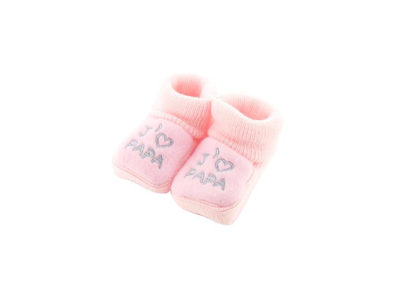b1edce8b2a641 Chaussons pour bébé 0 à 3 mois rose - j aime papa - Vente de FRUIT ...