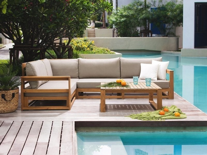 Salon de jardin en bois acacia timor 85278 - Vente de ...