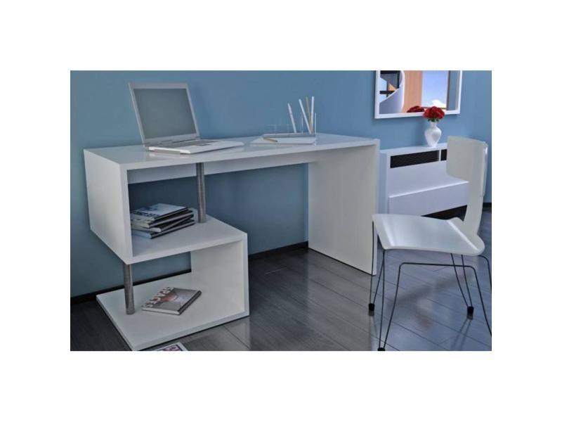 Bureau esse scrivania blanc brillant vente de bureau