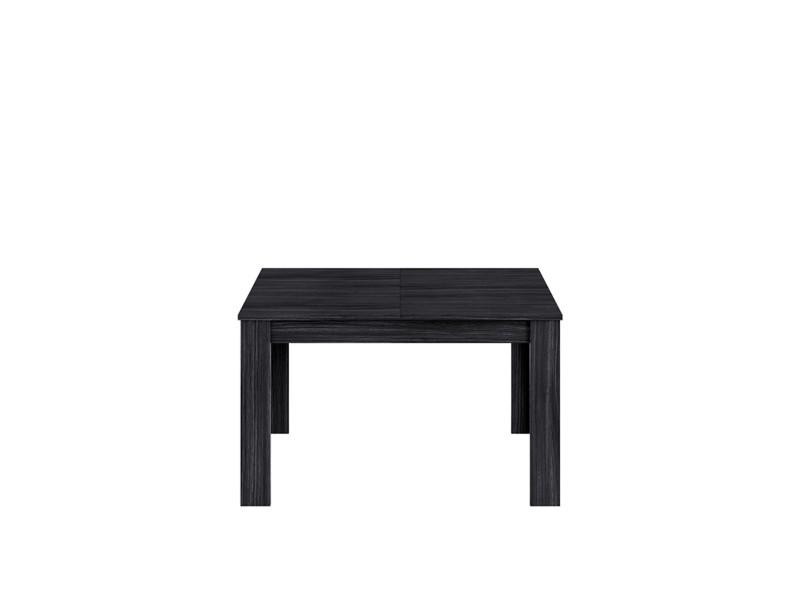 Table de repas extensible coloris gris cendré en mélamine avec plateau - dim : 78 x 140 x 90 cm -pegane-